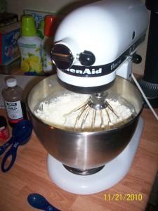 The start to cheesecake