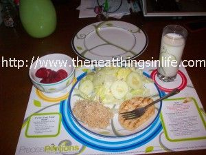 dinner on precise portions plate