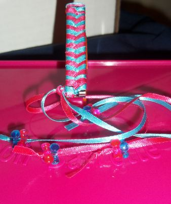 pink and blue barrette