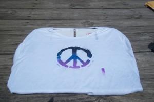 spray painted shirt