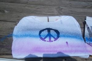 shirt spray painted