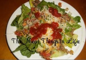 Taco Salad with Turkey Burger