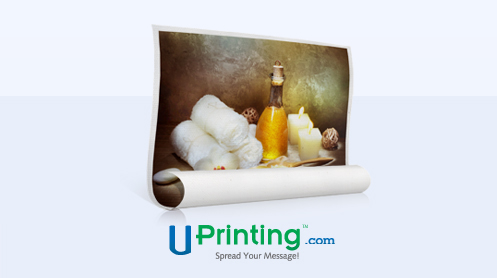 Uprinting rolled canvas