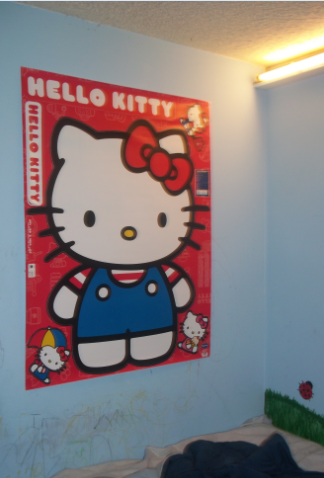 wall graphics hello kitty