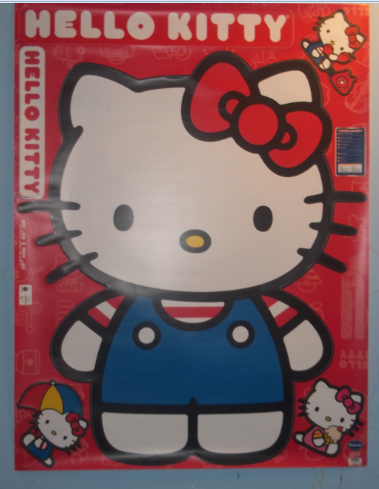 hello kitty wall graphix