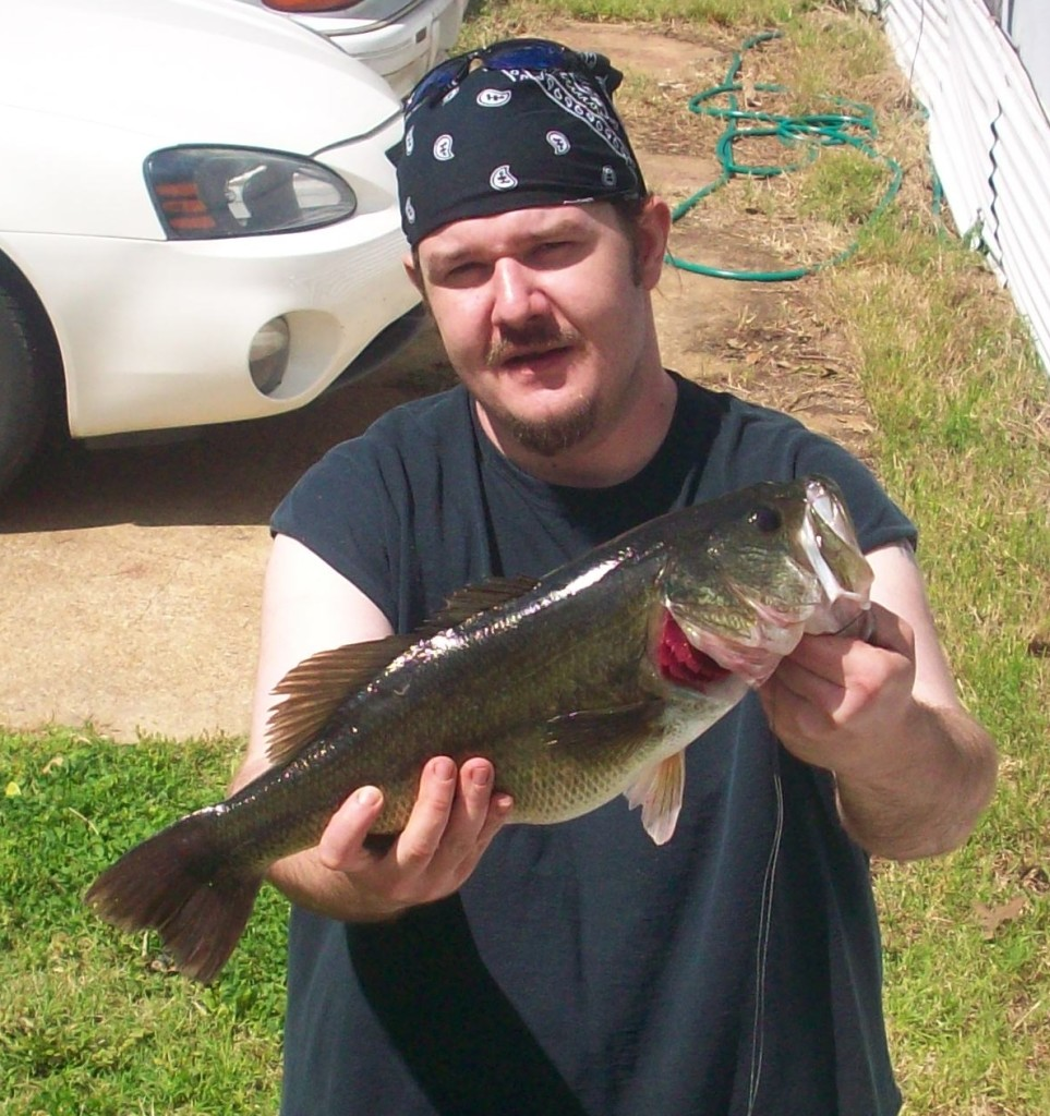 husband with bass