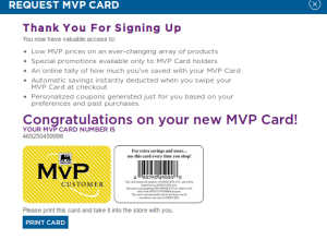 Can I use coupons at Food Lion also with my mvp card?