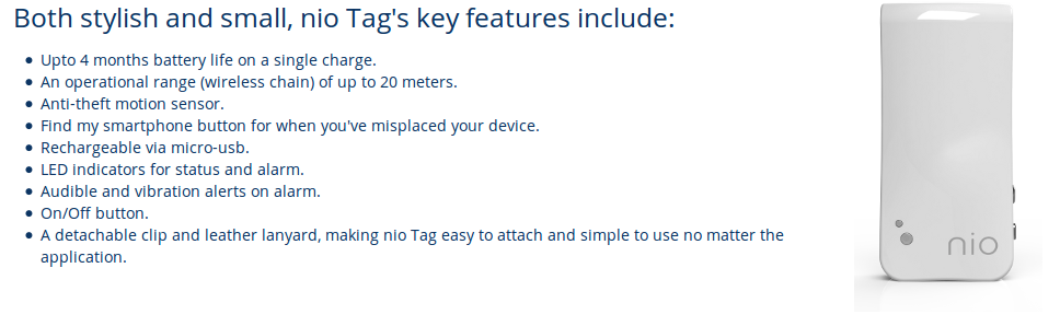 Nio Tag Features