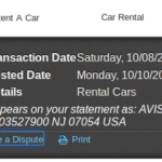 DO NOT RENT A VEHICLE FROM AVIS
